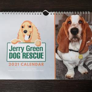 Jerry Green Dog Rescue 2021 calendar