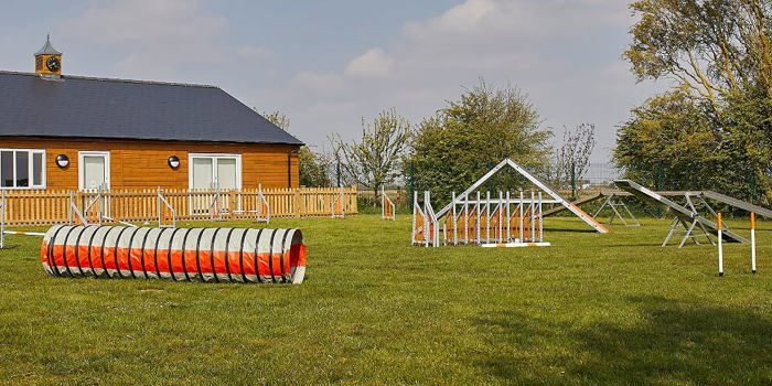 Dog agility field hire